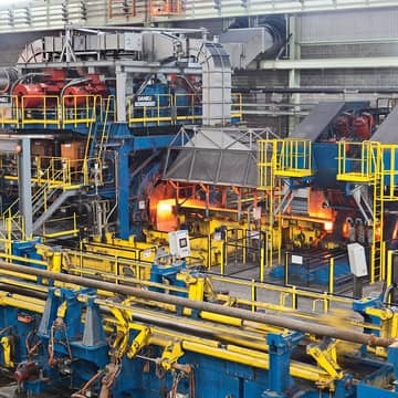 Tubes, forging, extrusion,  conditioning, cranes