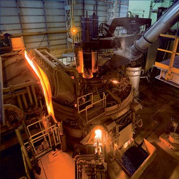 Ore processing, ironmaking  and steelmaking plants