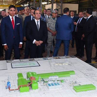 Egyptian president visits the steel plant in Beni Suef