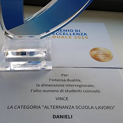 Italian Award for Excellence in Dual Education goes to Danieli