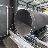 New Danieli automatic measuring system for LSAW pipes at Cimolai, Italy