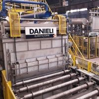 Danieli Olivotto Ferrè multiline roller hearth furnace for alloyed-steel bar hardening and tempering