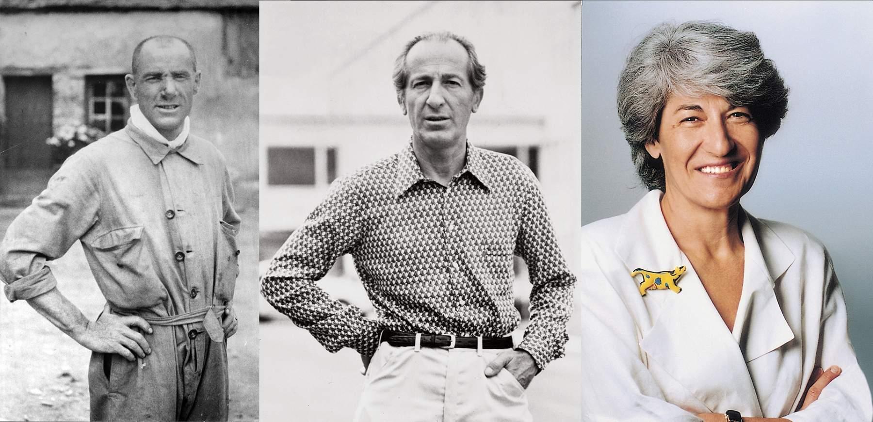 Three generations of Danieli family: Mario Danieli, Luigi Danieli, Cecilia Danieli.