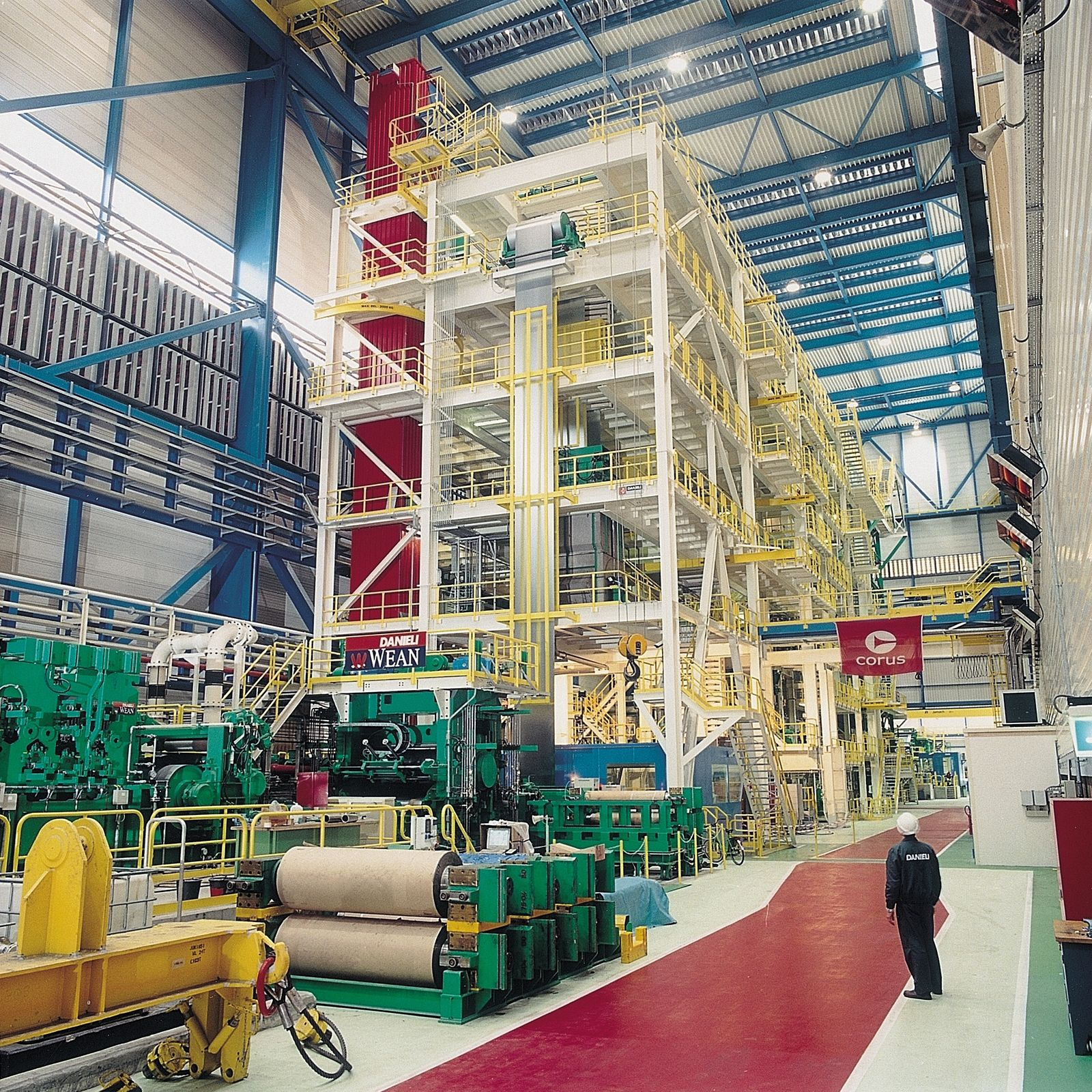 The existing hot dip galvanizing line installed by Danieli in 2000